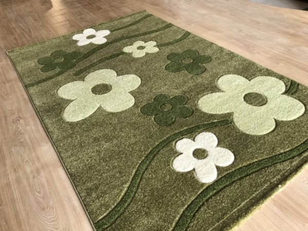 релефен килим съни   8013 зелен